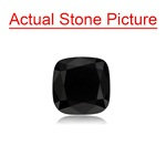2.53 Cts AAA Cushion Cut ( 2 pcs ) Loose Treated Fancy Black Diamonds