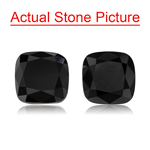 4.03 Cts AAA Cushion Cut ( 2 pcs ) Loose Treated Fancy Black Diamonds