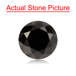 0.62 Cts of 4.76-4.80x3.91 mm GIA Certified Round Cut ( 1 pc ) Loose UnTreated Fancy Black Diamond