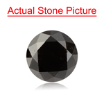 0.78 Cts of 5.37-5.40x3.89 mm GIA Certified Round Cut ( 1 pc ) Loose UnTreated Fancy Black Diamond