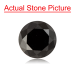 0.89 Cts of 5.36-5.40x4.49 mm GIA Certified Round Cut ( 1 pc ) Loose UnTreated Fancy Black Diamond