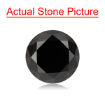 1.92 Cts of 6.93-7.00x5.87 mm GIA Certified Round Cut ( 1 pc ) Loose UnTreated Fancy Black Diamond
