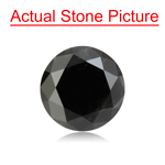 1.97 Cts of 7.14-7.27x5.58 mm GIA Certified Round Cut ( 1 pc ) Loose UnTreated Fancy Black Diamond