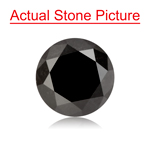 2.32 Cts of 7.07-7.14x6.21 mm GIA Certified Round Cut ( 1 pc ) Loose UnTreated Fancy Black Diamond