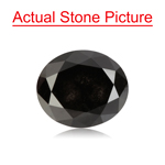 4.58 Cts of 10.10x8.50x5.84 mm GIA Certified Oval Cut ( 1 pc ) Loose UnTreated Fancy Black Diamond
