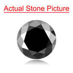 1.99 Cts of 7.49-7.55x5.35 mm GIA Certified Round Cut ( 1 pc ) Loose UnTreated Fancy Black Diamond