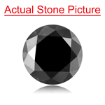 2.03 Cts of 7.86-7.92x5.11 mm GIA Certified Round Cut ( 1 pc ) Loose UnTreated Fancy Black Diamond
