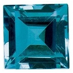 0.15-0.19 Cts of 3x3 mm AAA Square Cut London Blue Topaz ( 1 pc ) Loose Gemstone
