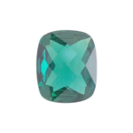 3.37-4.11 Cts of 12x10 mm AAA Cushion Checkered Lab Created Emerald ( 1 pc ) Loose Gemstone