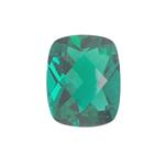 2.41-2.94 Cts of 10.0x8.0 mm AAA Cushion-Checker Cut Lab Created Emerald  ( 1 pc ) Loose Gemstone