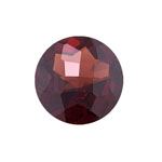 6.28-7.67 Cts of 12x12 mm AAA Round Checkered Garnet ( 1 pc ) Loose Gemstone