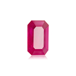 3.76 Cts of 11.34x7.09x4.06 mm AA GIA Certified Emerald Step Cut Natural Corundum Ruby ( 1 pc ) Loose Gemstone