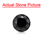 1.13 Cts of 6.08x6.08x4.64 mm GIA Certified AAA Round Brilliant ( 1 pc ) Loose Black Diamond