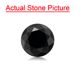 1.14 Cts of 6.00x6.00x4.83 mm GIA Certified AAA Round Brilliant ( 1 pc ) Loose Black Diamond