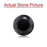 1.18 Cts of 6.15x6.15x4.58 mm GIA Certified AAA Round Brilliant ( 1 pc ) Loose Black Diamond