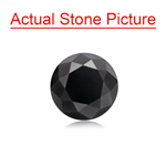 1.37 Cts of 6.50x6.50x4.83 mm GIA Certified AAA Round Brilliant ( 1 pc ) Loose Black Diamond