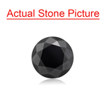 1.42 Cts of 6.48x6.48x5.00 mm GIA Certified AAA Round Brilliant ( 1 pc ) Loose Black Diamond