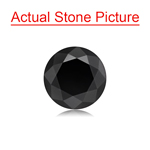 1.43 Cts of 6.50x6.50x4.93 mm GIA Certified AAA Round Brilliant ( 1 pc ) Loose Black Diamond