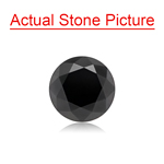 1.81 Cts of 7.04x7.04x5.32 mm GIA Certified AAA Round Brilliant ( 1 pc ) Loose Black Diamond
