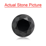 1.81 Cts of 7.00x7.00x5.45 mm GIA Certified AAA Round Brilliant ( 1 pc ) Loose Black Diamond