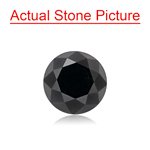 1.84 Cts of 7.00x7.00x5.58 mm GIA Certified AAA Round Brilliant ( 1 pc ) Loose Black Diamond