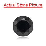 2.00 Cts of 7.53x7.53x5.32 mm GIA Certified AAA Round Brilliant ( 1 pc ) Loose Black Diamond