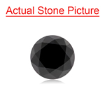 2.13 Cts of 7.53x7.53x5.74  mm GIA Certified AAA Round Brilliant ( 1 pc ) Loose Black Diamond