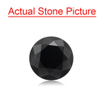 2.17 Cts of 7.56x7.56x5.75 mm GIA Certified AAA Round Brilliant ( 1 pc ) Loose Black Diamond