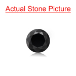 2.31 Cts of 8.00x8.00x5.22 mm GIA Certified AAA Round Brilliant ( 1 pc ) Loose Black Diamond