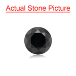 2.46 Cts of 8.00x8.00x5.90 mm GIA Certified AAA Round Brilliant ( 1 pc ) Loose Black Diamond