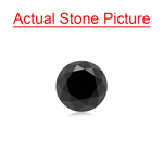 2.51 Cts of 8.00x8.00x5.93 mm GIA Certified AAA Round Brilliant ( 1 pc ) Loose Black Diamond