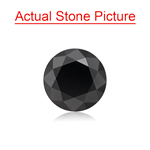 2.68 Cts of 8.00x8.00x6.13 mm GIA Certified AAA Round Brilliant ( 1 pc ) Loose Black Diamond