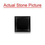 1.28 Cts of 6.00x6.01x3.79 mm GIA Certified AAA Princess Cut ( 1 pc ) Loose Black Diamond