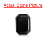 1.02-1.20 Cts of 7.00x5.06x2.90 mm AAA Emerald Cut Fancy Black ( 1 pc ) Loose Black Diamonds
