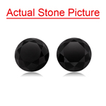 2.36 Cts AAA Round Fancy Black ( 2 pcs ) Loose Black Diamonds