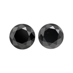 7.34 Cts AAA Round Fancy Black ( 2 pcs ) Loose Black Diamonds