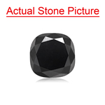 3.16 Cts of 7.50x7.40x5.80 mm GIA Certified AAA Cushion Natural Fancy Black ( 1 pc ) Loose Black Diamond