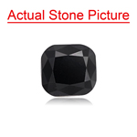 3.62 Cts of 7.62x7.30x6.90 mm GIA Certified AAA Cushion Natural Fancy Black ( 1 pc ) Loose Black Diamond