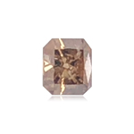0.38 Cts of 3.70x4.20x2.70 mm AAA Emerald Cut (1 pc) Loose Fancy Brown Diamond