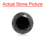 1.76 Cts of 7.00x7.00x5.30 mm GIA Certified AAA Brilliant Round ( 1 pc ) Loose Fancy Black Diamond