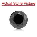 1.78 Cts of 7.07x7.07x5.40 mm GIA Certified AAA Brilliant Round ( 1 pc ) Loose Fancy Black Diamond