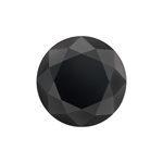 2.55 Cts of 8.08x8.08x5.88 mm GIA Certified AAA Brilliant Round ( 1 pc ) Loose Fancy Black Diamond