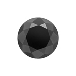 2.61 Cts of 8.02x8.02x6.08 mm GIA Certified AAA Brilliant Round ( 1 pc ) Loose Fancy Black Diamond