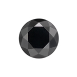 2.64 Cts of 8.10x8.10x6.12 mm GIA Certified AAA Brilliant Round ( 1 pc ) Loose Fancy Black Diamond