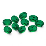 3.50-4.30 Cts of 6x4 mm A Oval ( 10 pcs ) Loose Emerald Gemstones