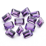 4.80-6.24 Cts of AA 6x4 mm Emerald Amethysts ( 12 pcs ) Loose Gemstone