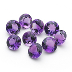 4.12 Cts of AA 5 mm Round Amethysts ( 9 pcs ) Loose Gemstone