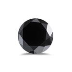 1.00 Ct of 4.40-4.90 mm AA Round Black Diamond ( 2 pcs ) Loose Diamonds