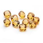 5.37 Cts of 5 mm AA Cushion Checker Board Citrine ( 10 pcs ) Loose Gemstones