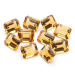 20.57 Cts of 9x7 mm AA Emerald-Cut Citrine ( 10 pcs ) Loose Gemstones